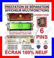 RIPARAZIONE LCD 6 PIN MULTIFUNZIONE PEUGEOT CITROEN 307, 407, C3, C4 ect