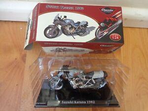 1/24 ATLAS IXO CLASSIC MOTOR BIKES - SUZUKI KATANA 1982 BIKE MOTORCYCLE