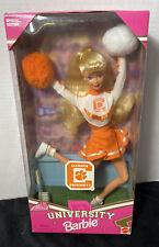 Barbie CLEMSON UNIVERSITY CHEERLEADER Doll. New In The Box Never Opened