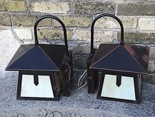 Mission Arts & Crafts Slag Glass Exterior Wall Sconce Light Fixture 10 Available
