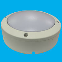 12W LED Outdoor Oval White IP65 Bulkhead Patio Garden Wall Lamp Security Light