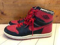 1985 Original Nike Air Jordan I 1 Red Black Bred OG sz 9.5