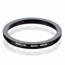 RISE(UK) 52mm-46mm 52-46 mm 52 to 46 Step down Ring Filter Adapter black