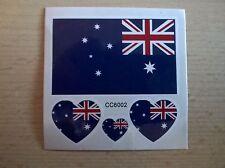 AUSTRALIA AUSTRALIAN FLAG TEMPORARY TATTOOS (BRAND NEW) 60mm X 60mm