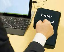 BIG ENTER! Supersized USB Enter Key Unbreakable Big Enter key Desktop Nap Pillow