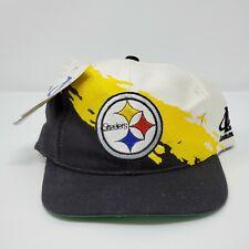 Pittsburgh Steelers Logo Athletic Splash Snapback Hat Cap BNWT Vintage 90s NFL