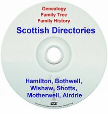 Family Genealogy Scotland Hamilton Bothwell Wishaw Shotts Motherwell Airdrie DVD