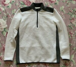 BNWOT Mens White/Grey Under Armour Golf 1/4 Zip Up Top Jumper Size M