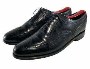 Florsheim Montinaro Oxfords Black Brogue Wingtip Dress Shoes Men's Size Us 9.5 D