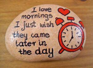 Hand painted rocks, stones, pebbles. Pebble art. Message painted stone.