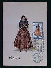 SPAIN MK 1967 TRAJES BALEARES TRACHT COSTUME MAXIMUMKARTE MAXIMUM CARD MC c6081