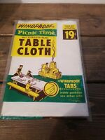 Vintage Windproof Picnic Time Table Cloth New In Package 7 Ft Straubel Paper Co