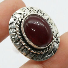 of Us Size 7.5 Ethnic Gift Carnelian 925 Silver Plated Handmade Gemstone Ring