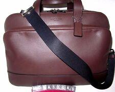 Coach Men Hamilton Mahogany Brown Leather Commuter Briefcase Bag F72224 NWT $595