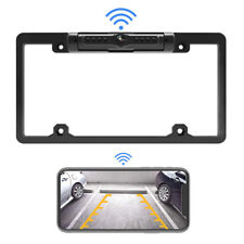Digital Wireless Car Backup License Plate Frame Rear WiFi Camera For IOS Android