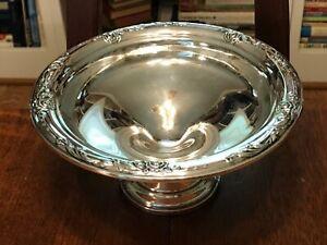 """DAMASK ROSE HEIRLOOM Sterling Silver 6.5"""" Compote Raised Pedestal Dish"""
