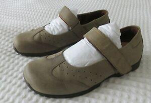 FOOTPRINTS by BIRKENSTOCK Sz 37 (6-6.5) Oiled Leather Mary-Jane Shoes, Reg/ Wide