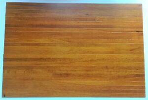 "Dollhouse Miniature Red Oak Real Wood Flooring Wide Planks Gloss Finish 18"" x 12"