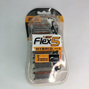 Bic Flex 5 Hybrid Men's Razor Flexible Handle Value Pack - 6 Refill Cartridges