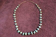 "Turquoise Heishi Beads Necklace 27"" Native American Santo Domingo Pueblo"