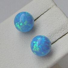 WoW ★★ Opal Ohrringe aus 18kt 750 Gold Ohrstecker mit Blauopal Edelsteine ★ 6939