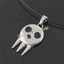1pc Anime Soul Eater Death The Kid Skull Logo Pendant Necklace Chain Cosplay New