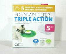 Catit 43746 Cat WATER FOUNTAIN REPLACEMENT FILTERS - 5-Pack White