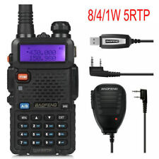 BaoFeng UV-5RTP + Cable + Speaker 1/4/8W Dual Band Radio Emisora Walkie Talkies