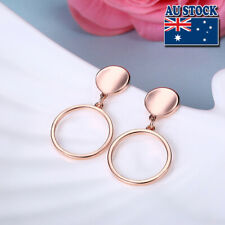 Classic 18K Rose Gold Filled Round Dangle Earrings Wedding