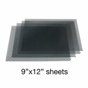 Black Grill Mesh 9 inch x 12 inch - 4 Sheets custom muscle