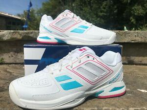 Babolat Tennis Shoe - Propulse Team Jnr UK Kids 13 - EUR 31 New in Box! Wht/Pink