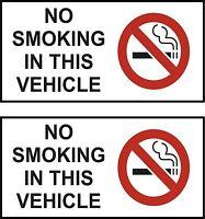 set of 2 sticker no smoking vehicle car taxi door decal self adhesive