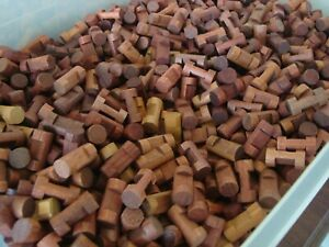 """Wooden LINCOLN LOGS Lot 200 Small Log Pieces 1.5"""" 1 Notch Brown Assorted"""