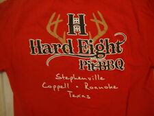 Hard Eight Pit BBQ Stephenville Coppell Roanoke Texas Souvenir Red T Shirt S