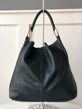 "LUCKY BRAND ""Pennys Bag"" Big Bang Theory Black Leather Whipstitch Hobo Shoulder"