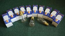 9 Narva Glühbirnen 15W E14 klar 225V Glühlampe Lampe Kühlschrank konisch Birne