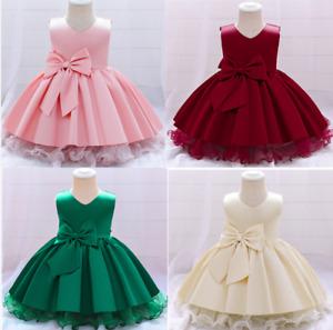 Baby Mädchen Prinzessin Kleid Blumenmädchenkleid Taufkleid Festlich Hochzeit