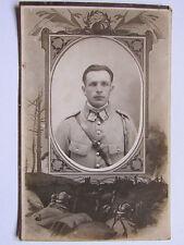 03C9 CPA CARTE PHOTO PHOTOGRAPHIE D' ATELIER DE SOLDAT 23 e RI POILU 14/18 WWI