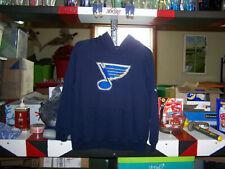Awesome Boys NHL St Lous Blues Hoodie Size Large Blue
