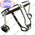 NEW Female Stainless Steel Adjustable Chastity Belt With Wrist FREE SHIPPING