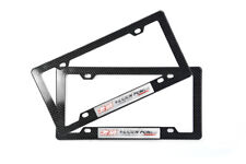 x2 Mugen Racing Sticker + Carbon ABS Plastic Front and Rear License Plate Frame