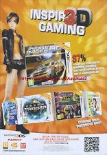 "aming Ridge Racer 3D ""Nintendo 3DS"" 2011 Magazine Advert #4389"