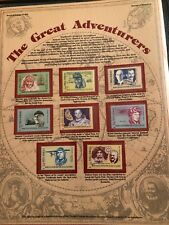 World of Stamps Series Stamps of Romania The Great Adventurers 8 Stamps , new