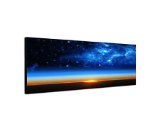120x40cm Galaxy Planet Erde Panorama Sonnenaufgang Milchstraße Bild Sinus Art