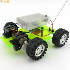 DIY Dual Motor Four Remote Control Car Technology Small Production Handmade
