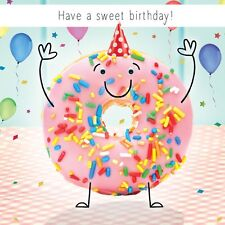"Birthday Card ""Happy Birthday"" Funny Doughnut Party Goggly 3D Moving Eyes"
