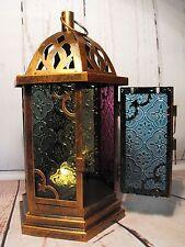 LANTERNA Marocchina Portacandele Antico COPPER METAL Stile Marocchino Lanterna Nuovo