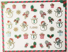 Nailart Stickers Autocollants Ongles Déco Noël Scrapbooking Rênes Cadeaux