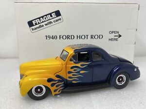 1/24 Danbury Mint 1940 Ford Vintage Hot Rod Coupe Purple Flames