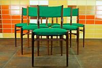 60er 6x Teak Vintage Stühle Danish Retro Set Esszimmer Stuhl Sessel Mid-Century